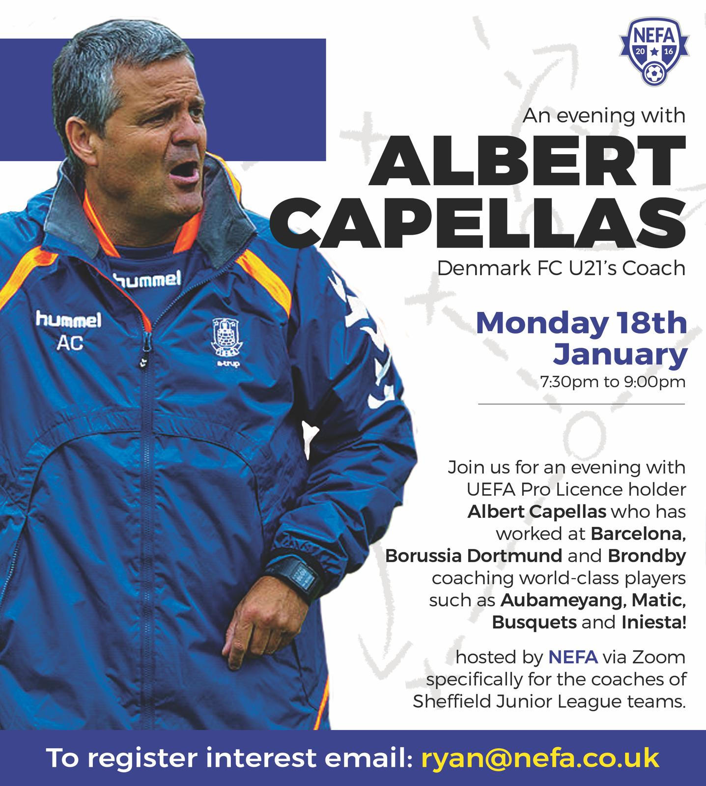 NEFA PRESENT AN EVENING WITH ALBERT CAPELLAS